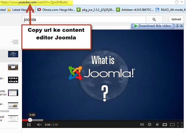 copy url youtube